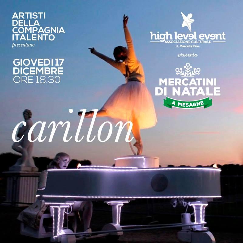 Giovedì al Mercatino di Natale lo spettacolo di Carillon