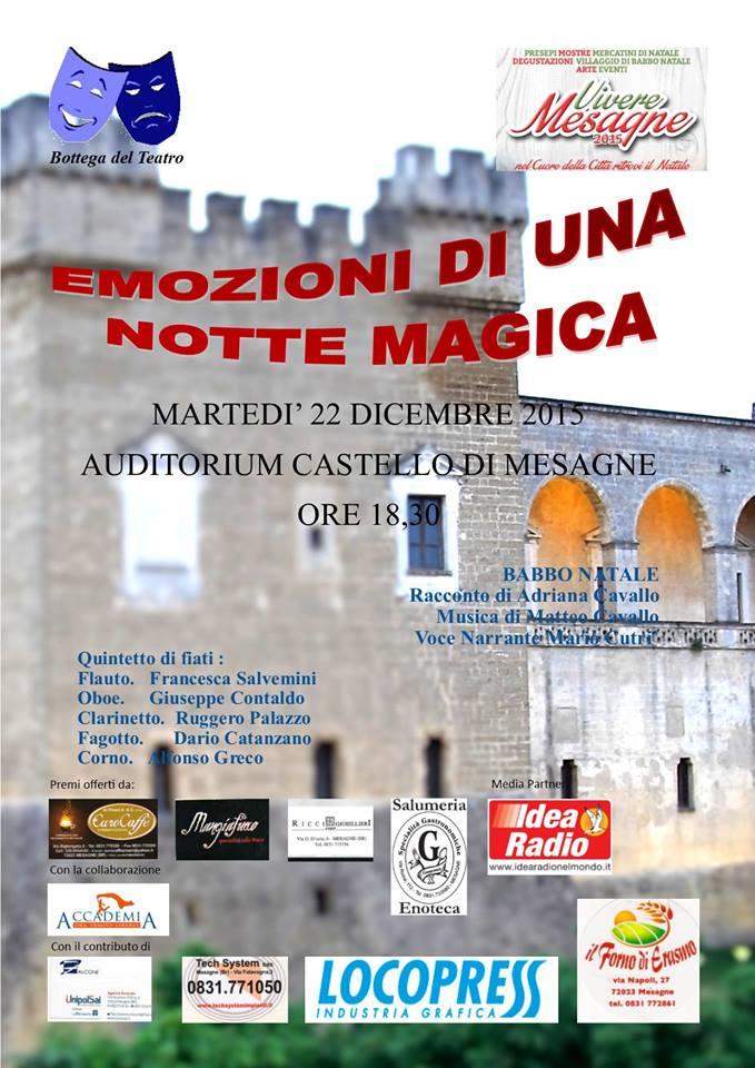 Martedì 22 dicembre, Emozioni di una notte magica