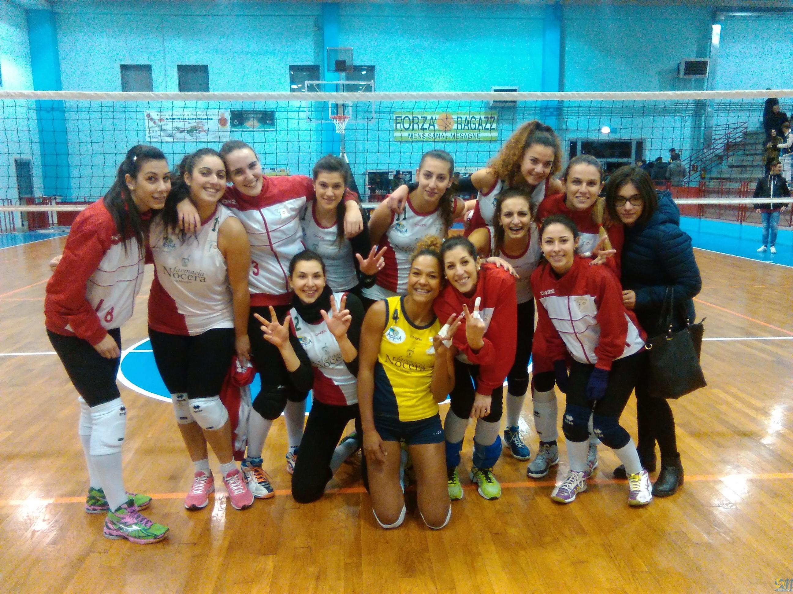 Mesagne Volley vince anche l'ultima di andata