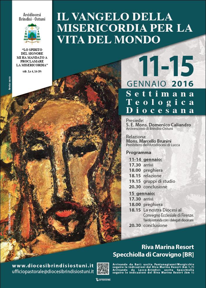 """Da Oggi a Venerdì a Specchiolla la """"Settimana Teologica"""" della Diocesi di Brindisi-Ostuni"""