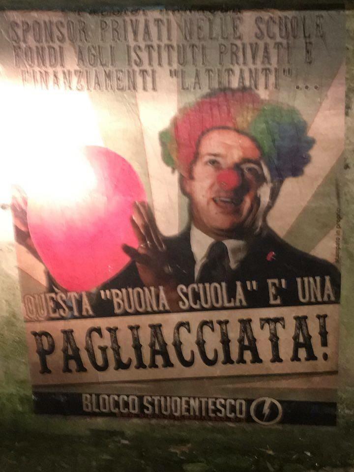 """Comitato studentesco: """"Contro la Buona Scuola ma da antifascisti"""""""