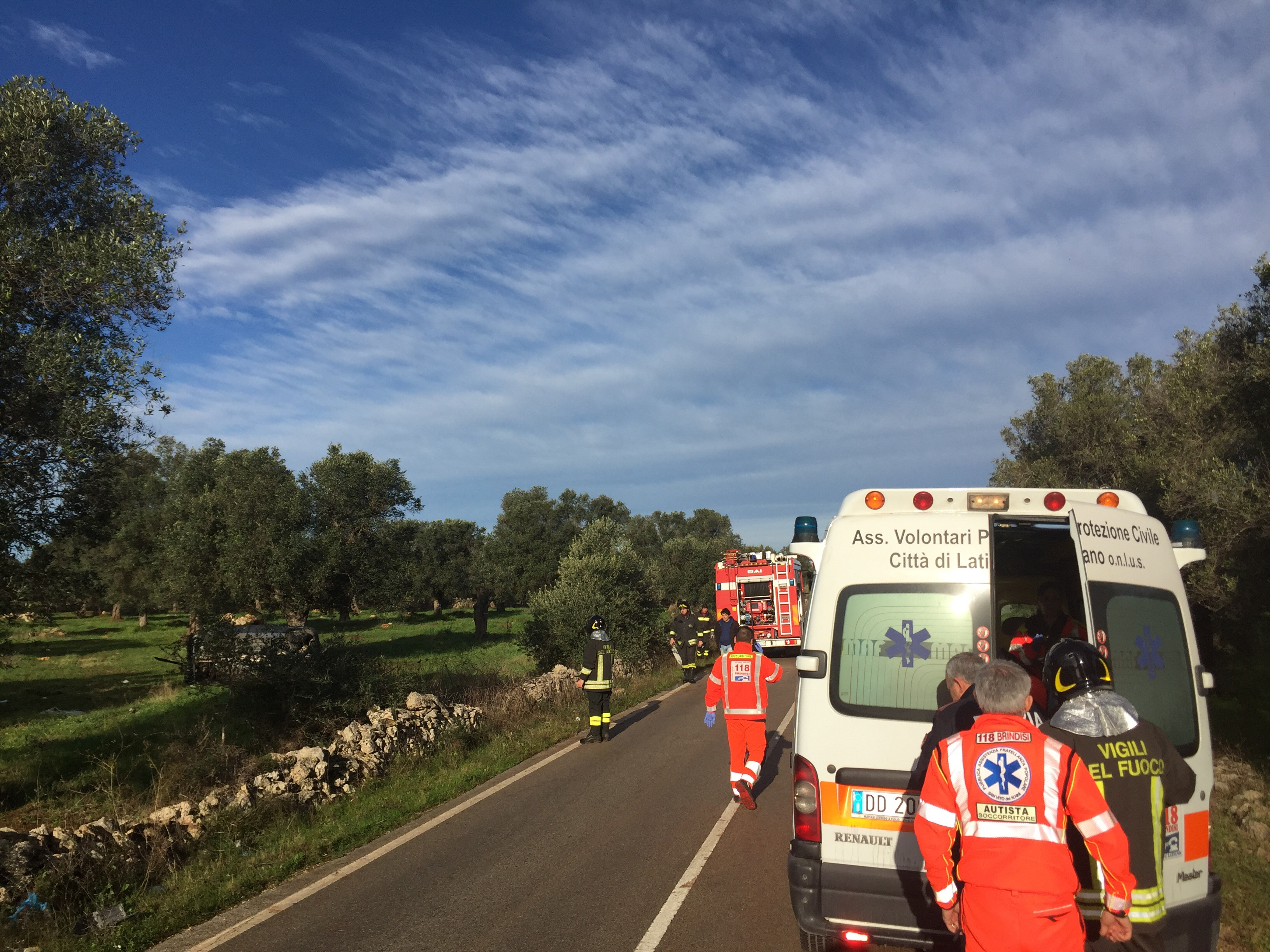 +++ULTIM'ORA +++ Grave incidente sulla provinciale Mesagne-San Vito.