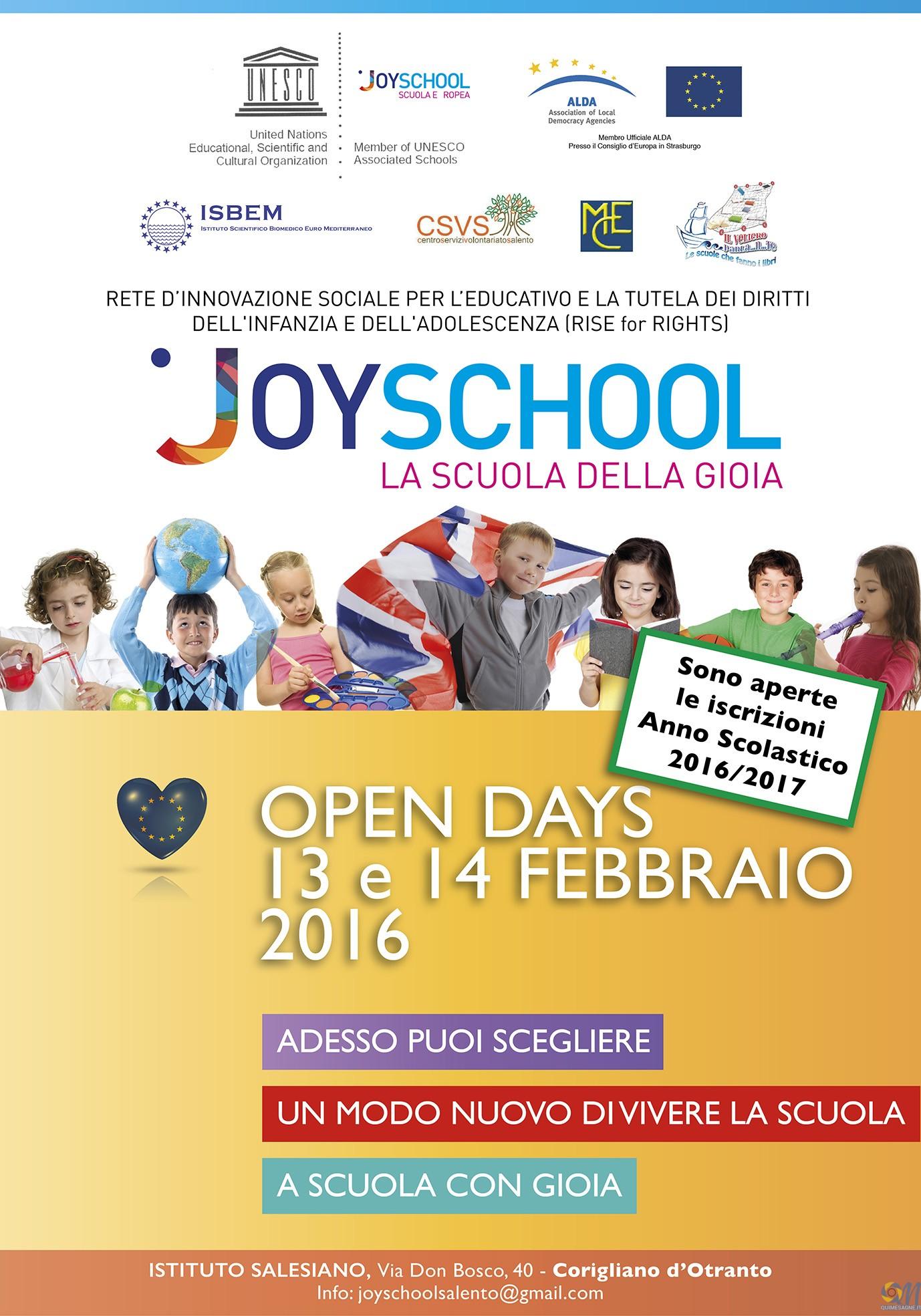 Presentato a Lecce il progetto Joyschool, interviene il prof. Distante