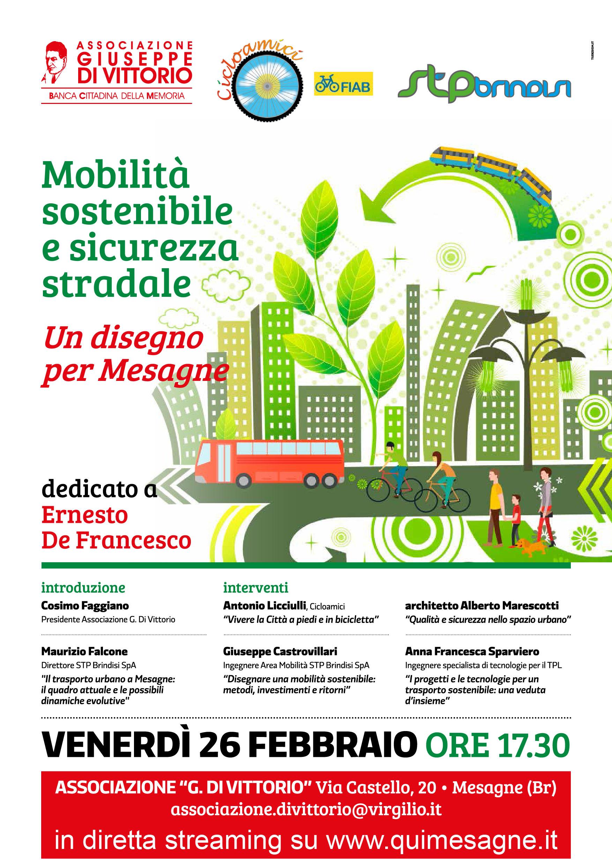 Il 26 febbraio, Mobilità sostenibile e sicurezza stradale…un disegno per Mesagne