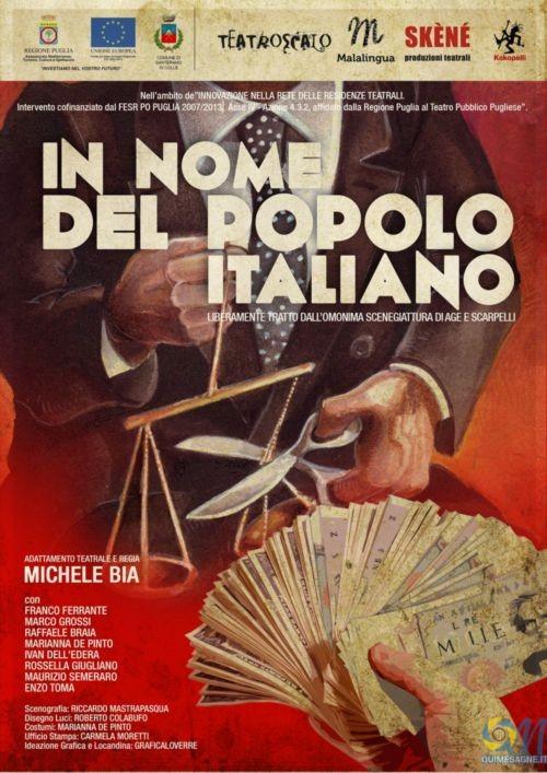 """Sabato 20 febbraio si torna a Teatro con: """"In nome del popolo italiano"""""""
