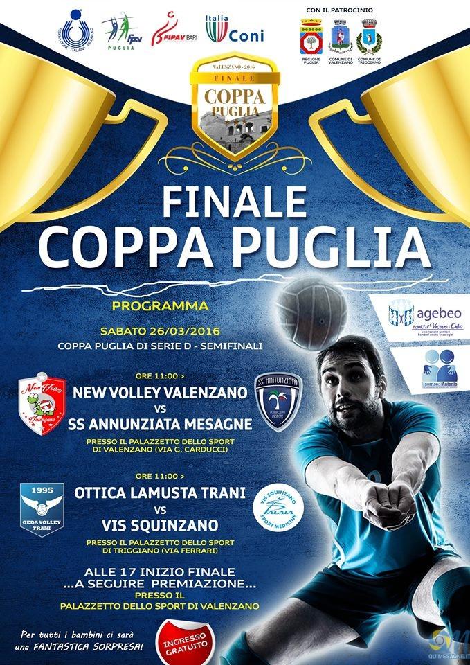 Volley SS. Annunziata, Sabato 26 marzo le finali di Coppa Puglia