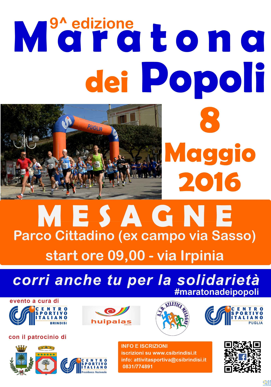 Rinviata a domenica 8 Maggio anche la Maratona dei Popoli