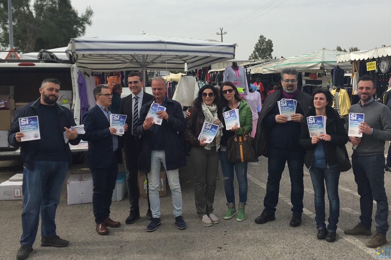 Sindaco e Matarrelli, insieme alla Giunta e al Presidente del Consiglio per dire SI al referendum