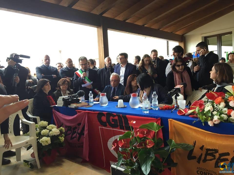Il discorso del Sindaco a Masseria Canali davanti alla Boldrini