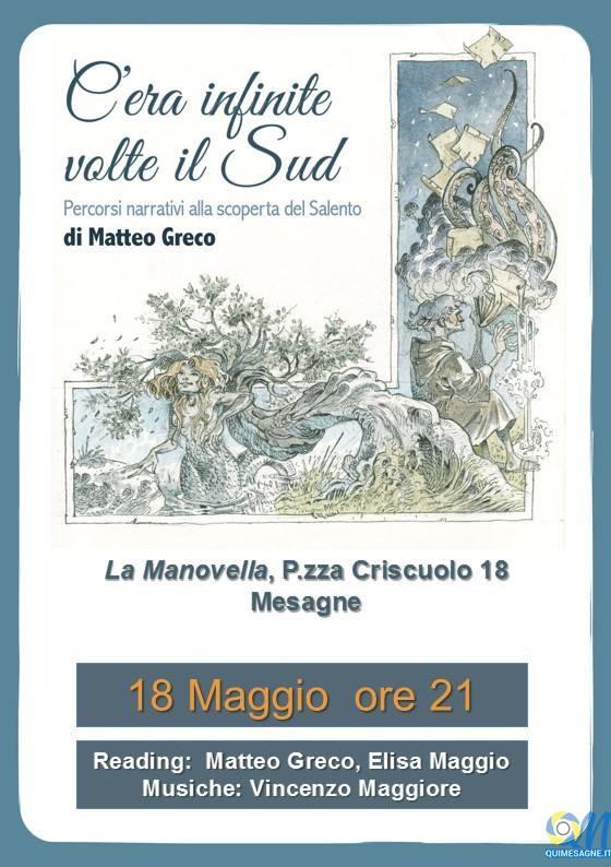 """Mercoledì 18 Maggio a La Manovella il libro """"C'era infinite volte il Sud"""