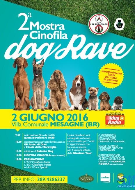 Giovedì 2 Giugno seconda edizione Mostra Cinofila DogRave