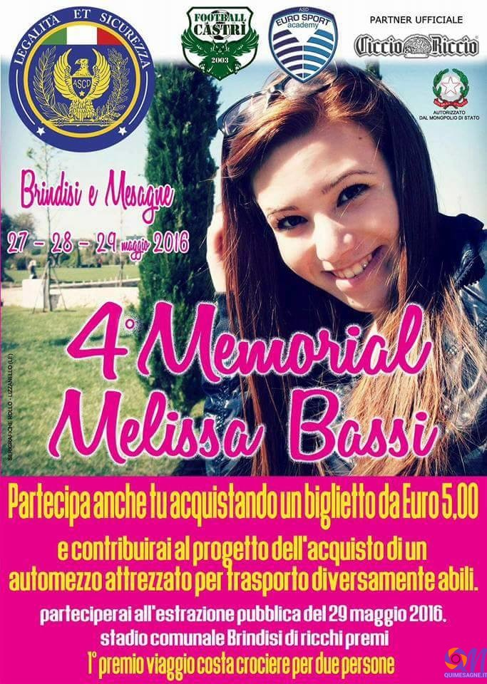 QUESTO WEEKEND MEMORIAL E CONCERTO PER RICORDARE MELISSA