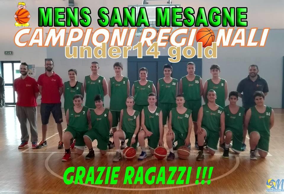 La Mens Sana Mesagne  è campione regionale Under 14 Gold