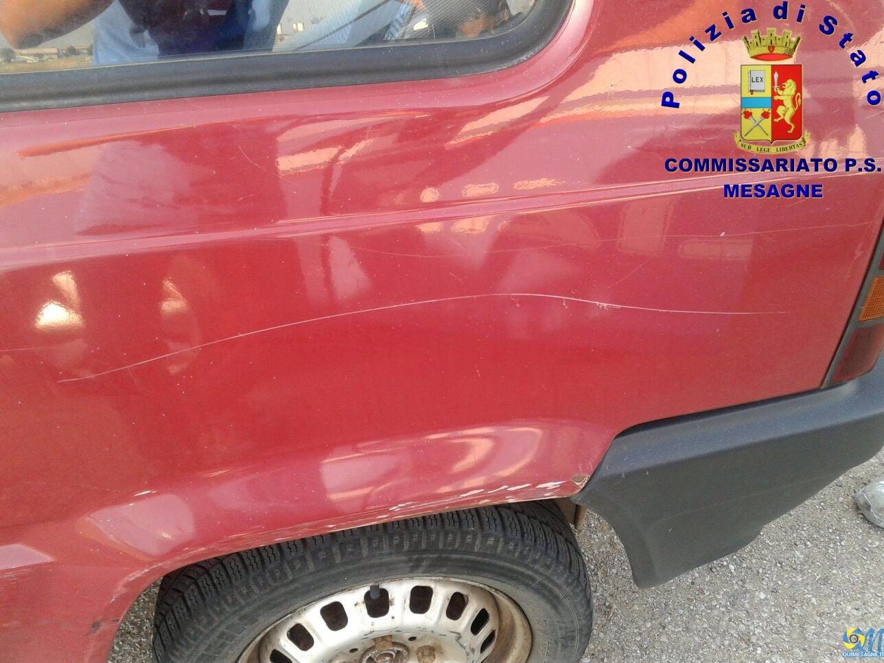 Denunciato a piede libero l'artigiano mesagnese che sfregiava le auto