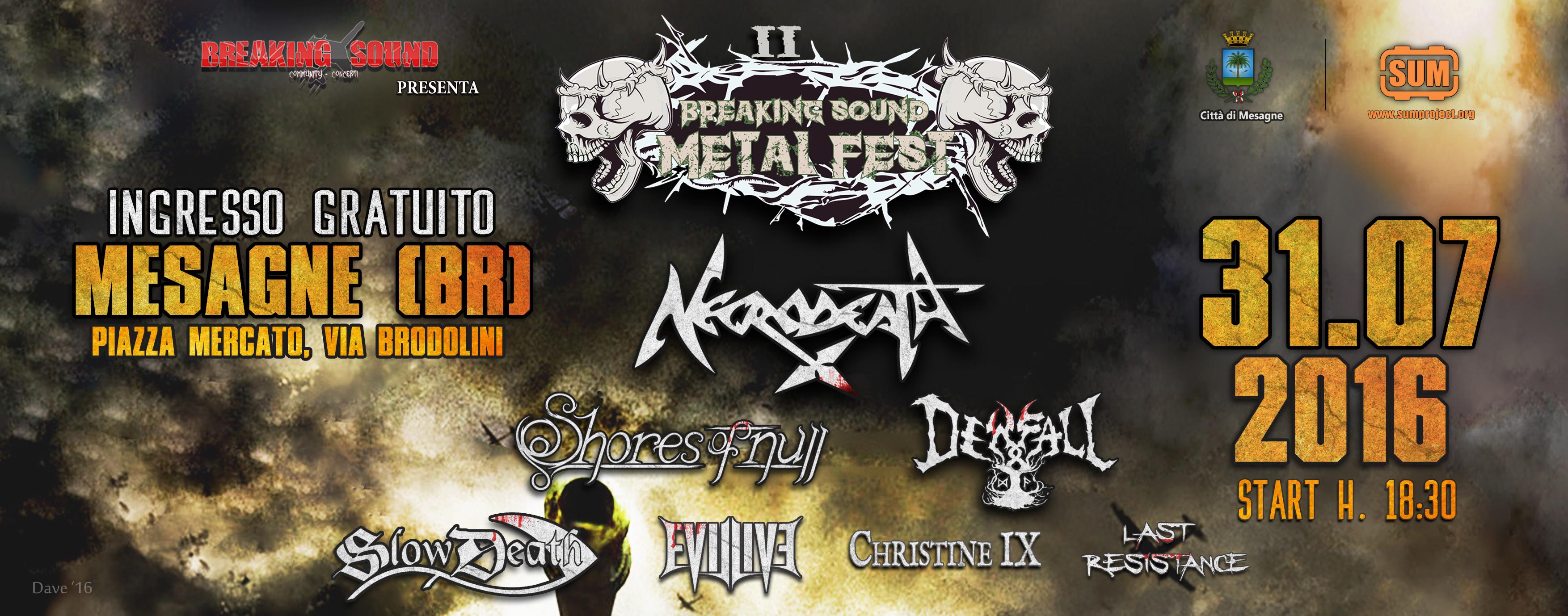 """domenica il secondo capitolo di """"Breaking Sound Metal Fest"""""""