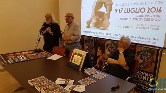 """Inaugurata alla """"Di Vittorio"""" la mostra di Carmelo Conte"""