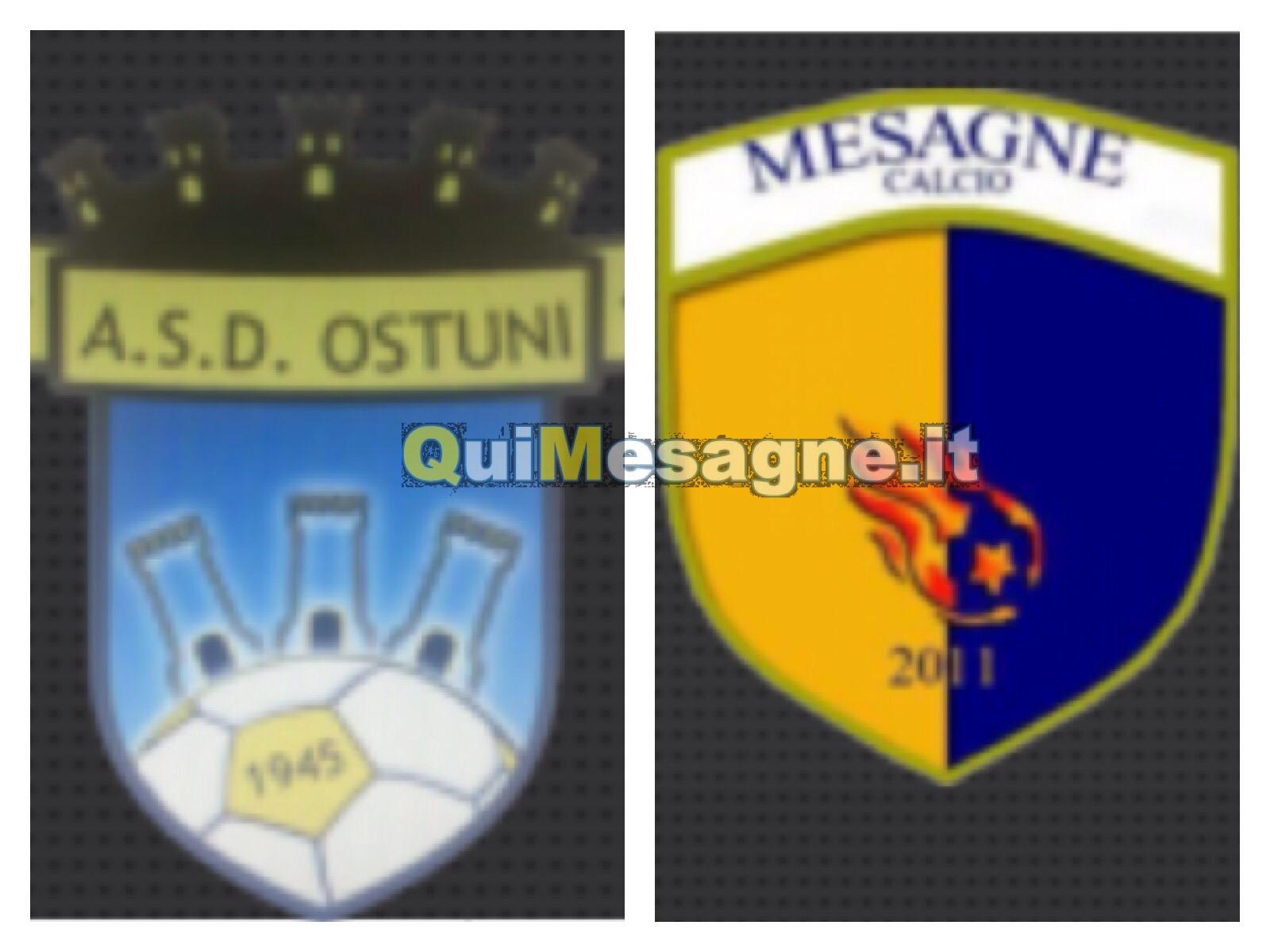 Mesagne calcio, domenica trasferta insidiosa ad Ostuni.