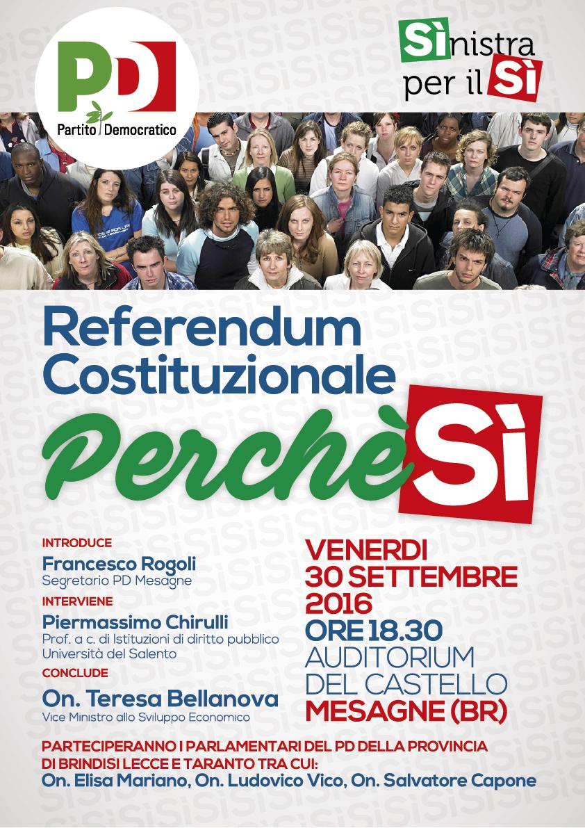 Domani a Mesagne arriva il viceministro Teresa Bellanova
