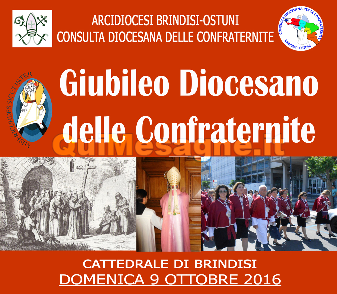 Domenica 9 ottobre le Confraternite della diocesi di Brindisi-Ostuni celebrano il Giubileo