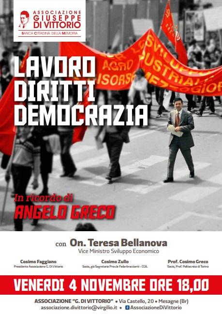 """Venerdì 4 novembre alla Di Vittorio incontro su """"Lavoro Diritti Democrazia"""""""