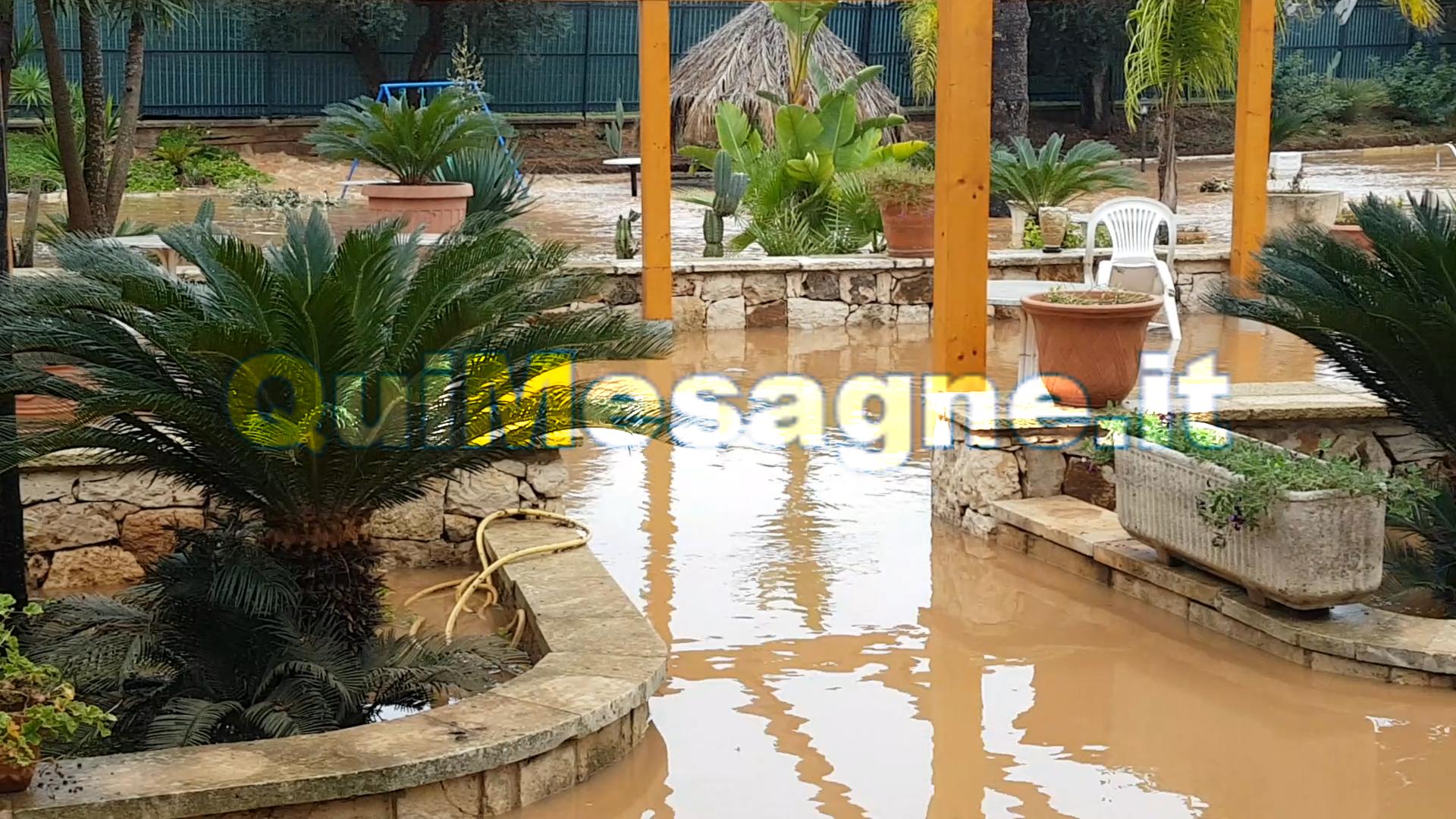 Provinciale San Vito, pioggia: danni al ristorante Pampero e ville vicine