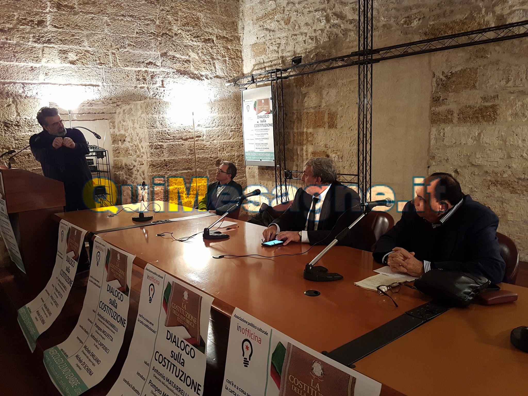 """""""Dialogo sulla Costituzione"""" con Michele Emiliano – Guarda il video"""