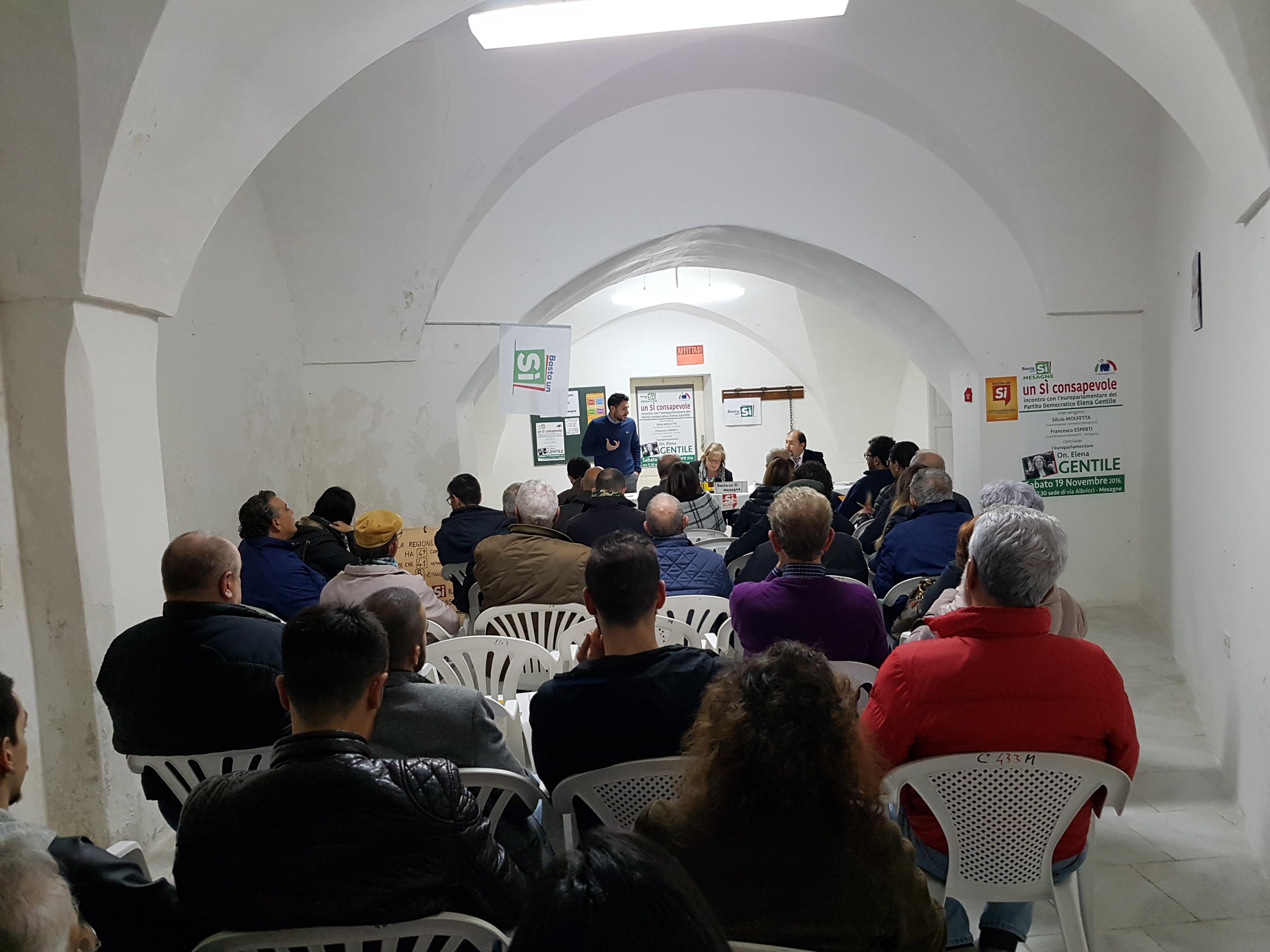 Elena Gentile a Mesagne per il Sì al Referendum