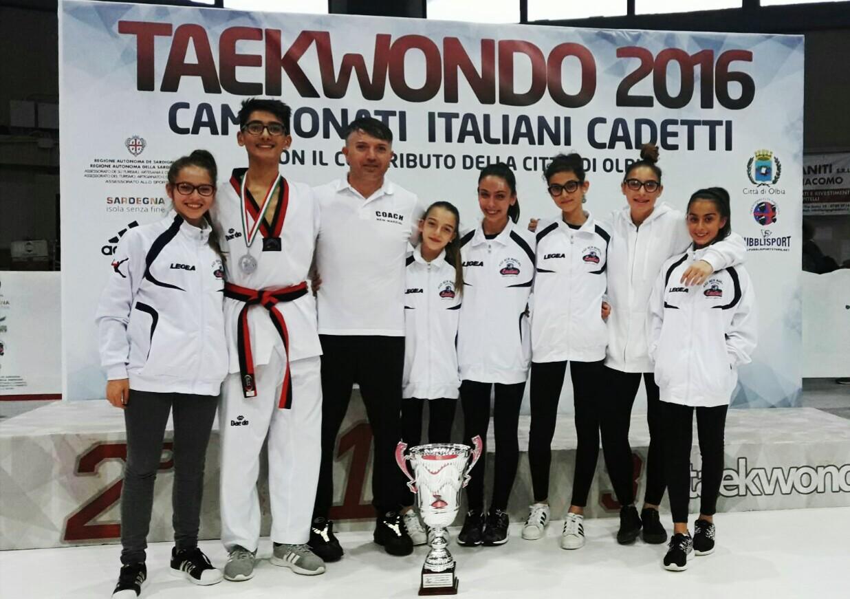 Campionato italiano Taekwondo cadetti: alla New Marzial tre ori, un argento e un bronzo