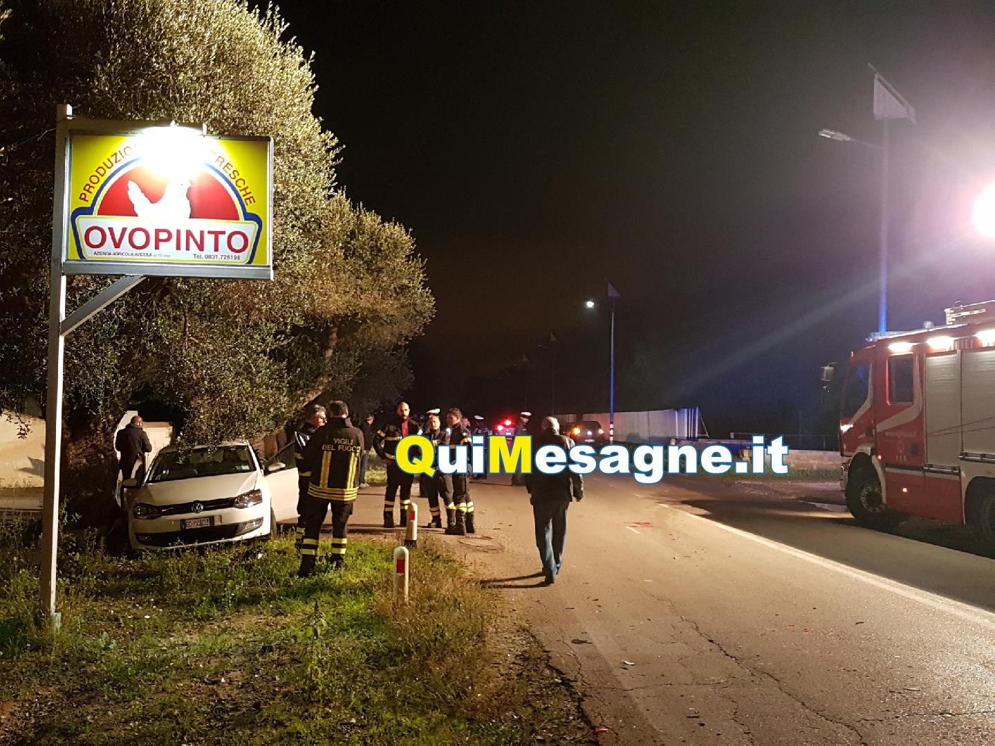 Grave incidente su via Latiano, due persone in ospedale