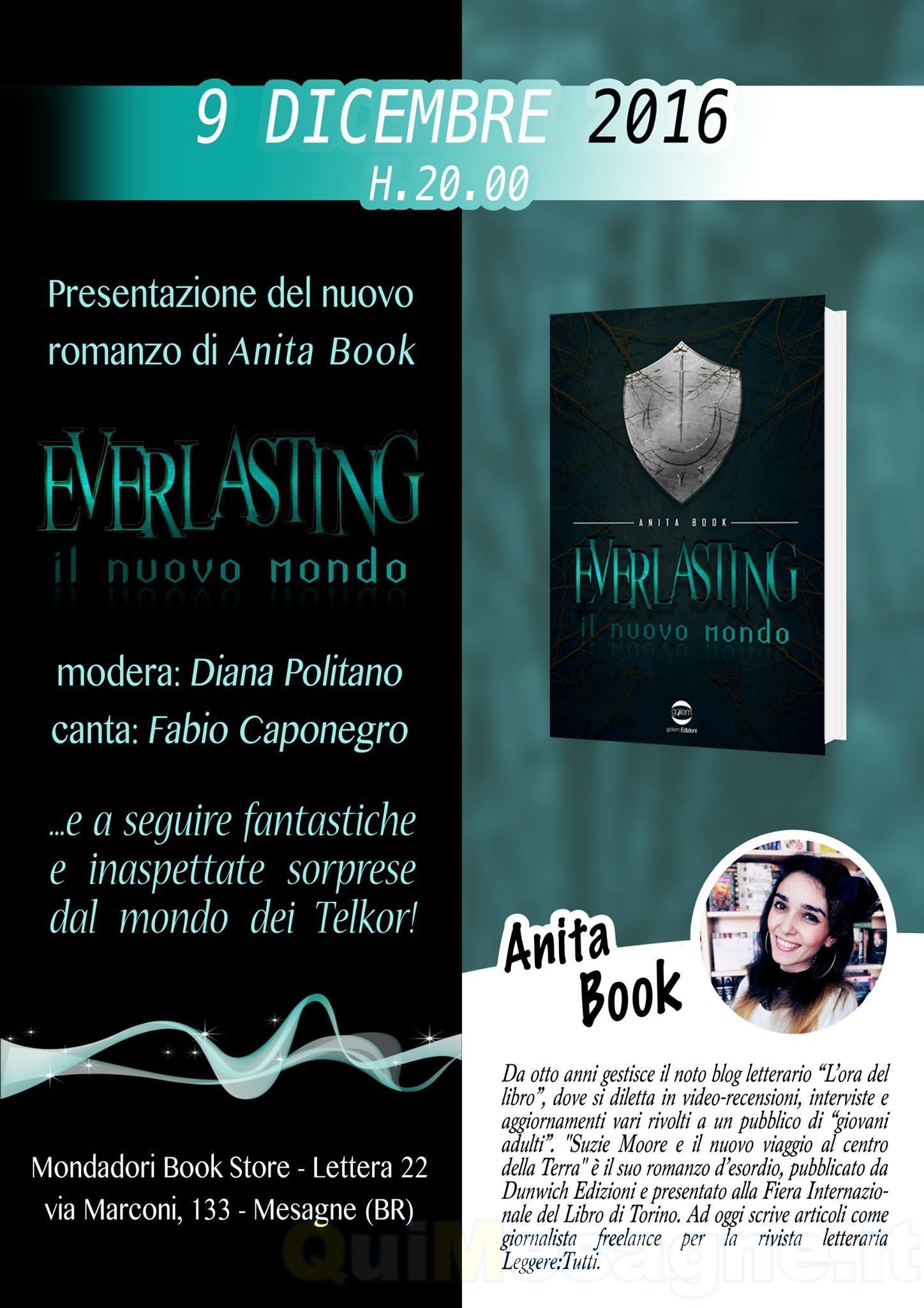"""Venerdì 9 dicembre, a Lettera22 Anita Book presenta """"Everlasting. Il Nuovo Mondo"""""""
