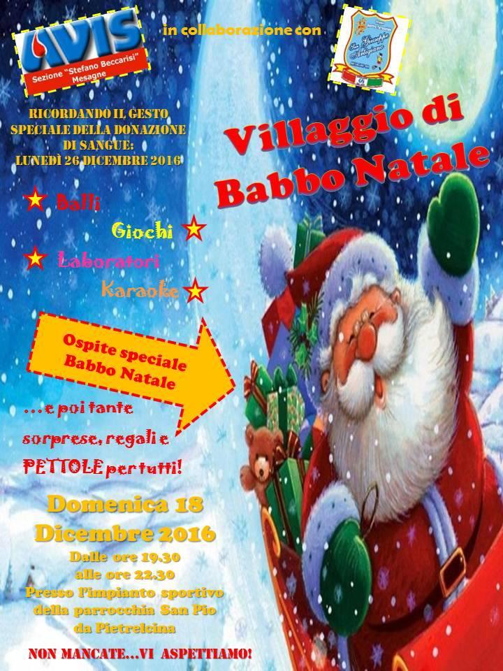 Domani 18, Villaggio di Babbo Natale nella parrocchia di San Pio – LEGGI LA LOCANDINA