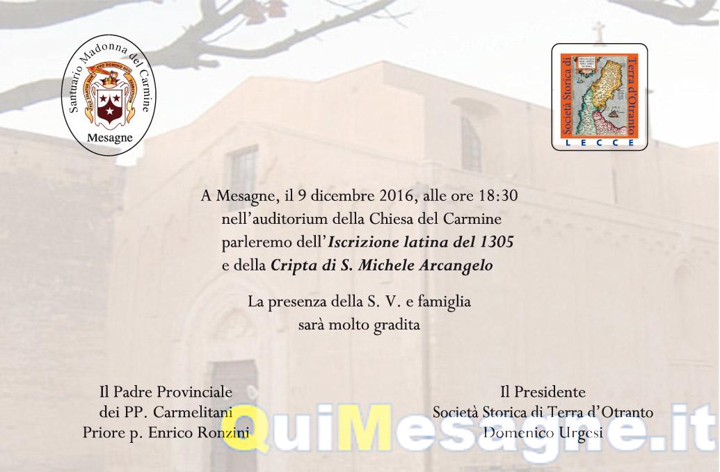 Venerdì 9 Dicembre nella Basilica del Carmine si sveleranno nuove scoperte storiche