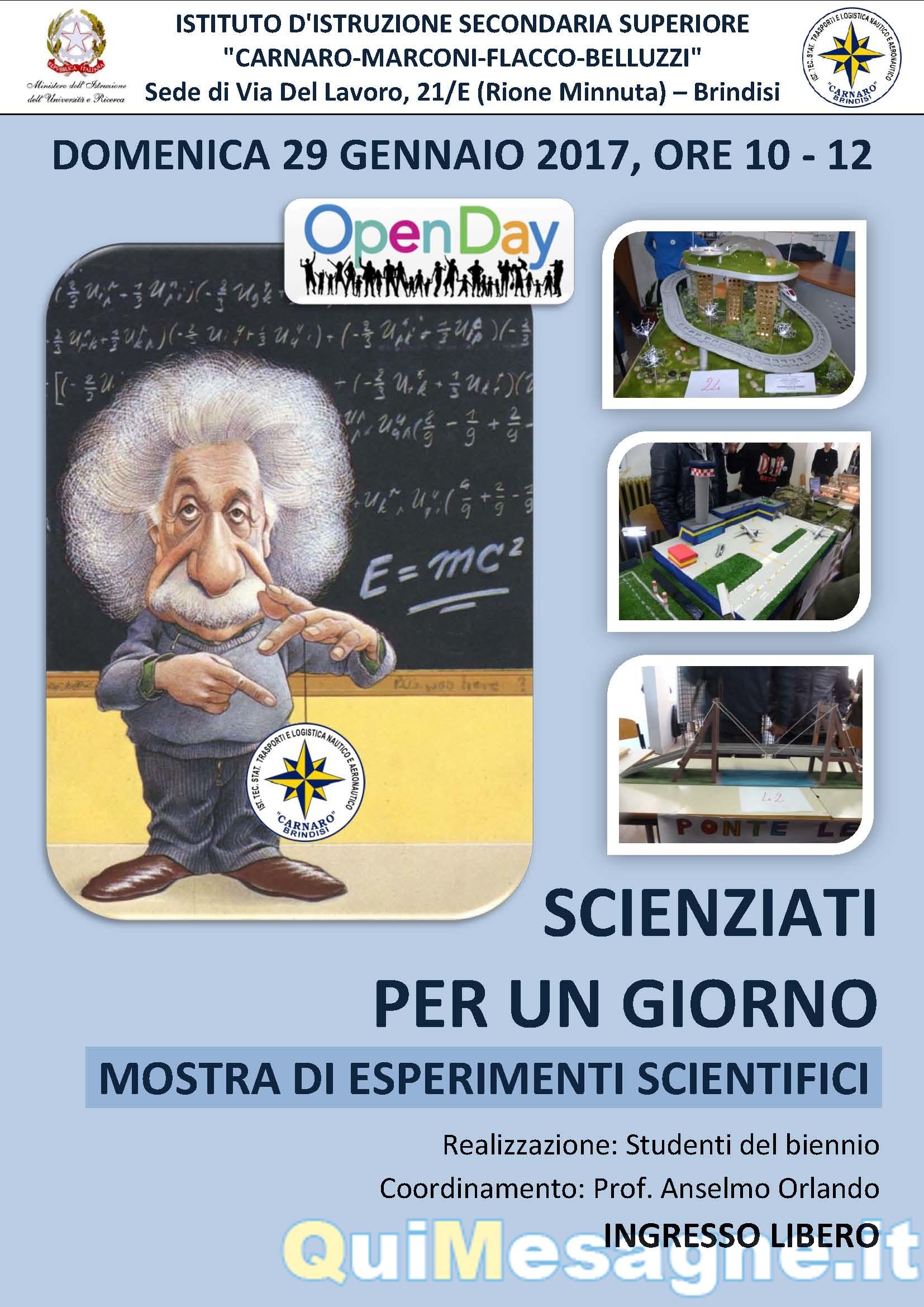 """Open day al """"Marconi-Flacco"""" con """"Scienziati per un giorno – mostra di esperimenti scientifici"""""""