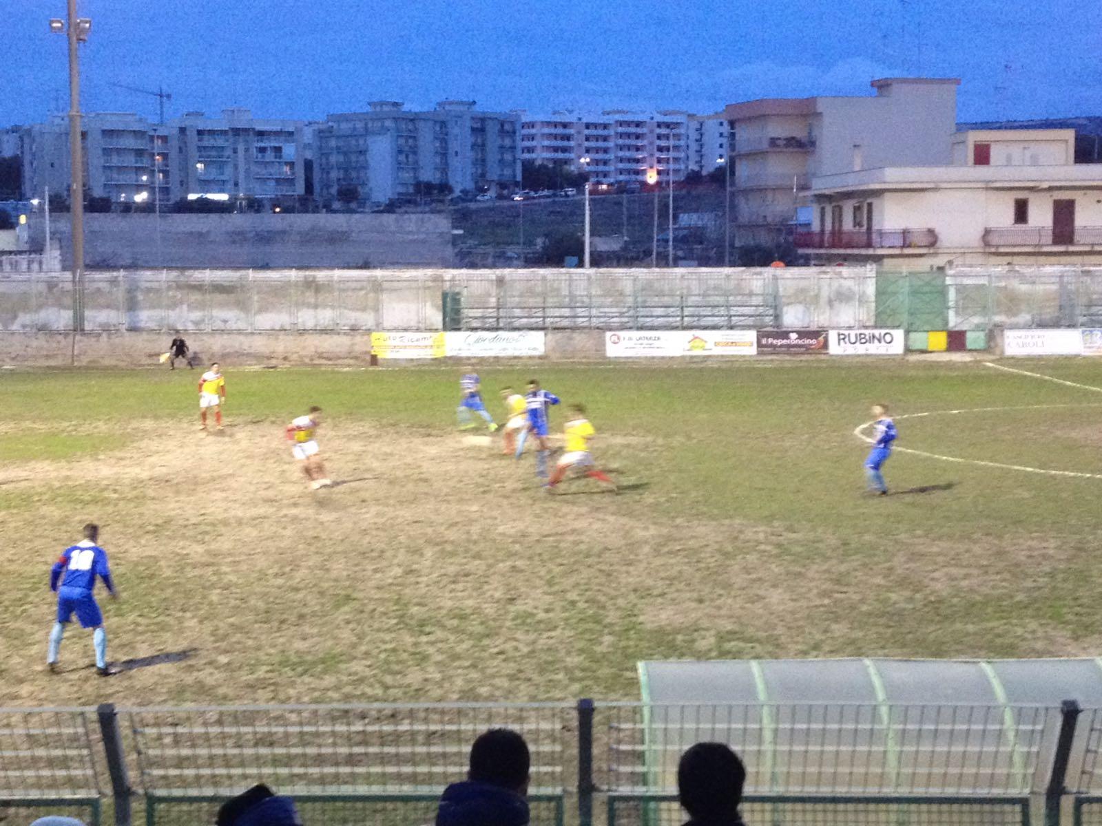 Il Mesagne calcio a Massafra perde per una rete a zero