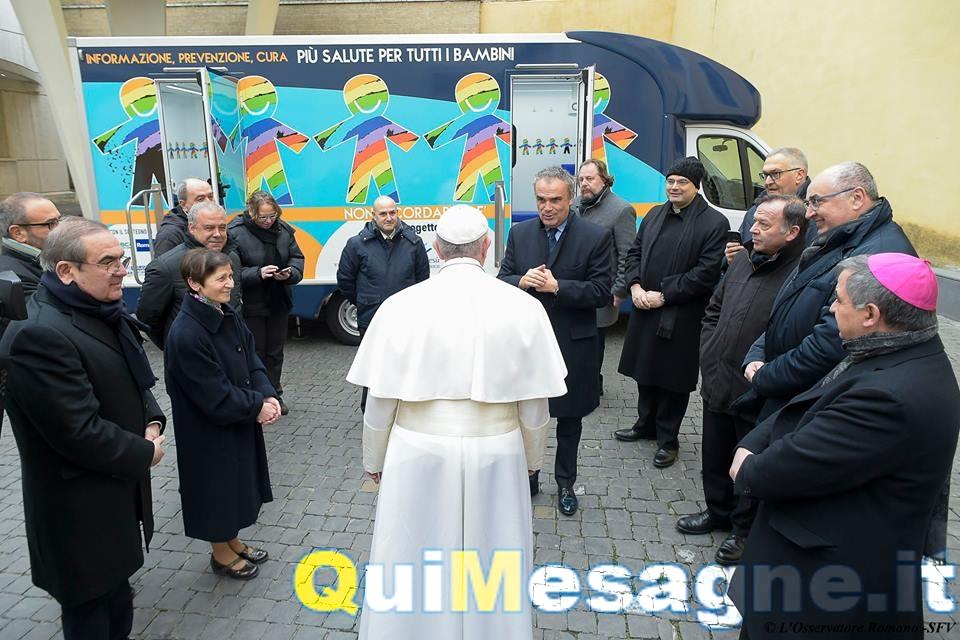 Nontiscordardimé, Papa Francesco benedice il progetto della Cooperativa Osa di Giuseppe Milanese