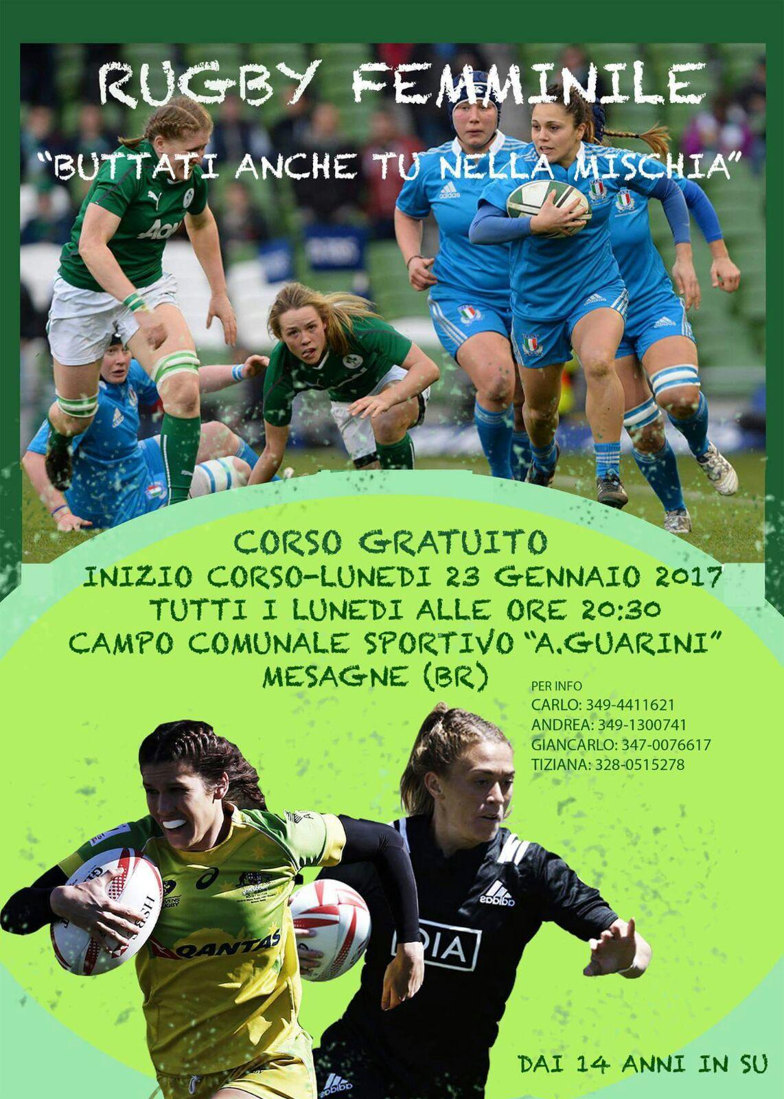 Il Rugby femminile arriva a Mesagne