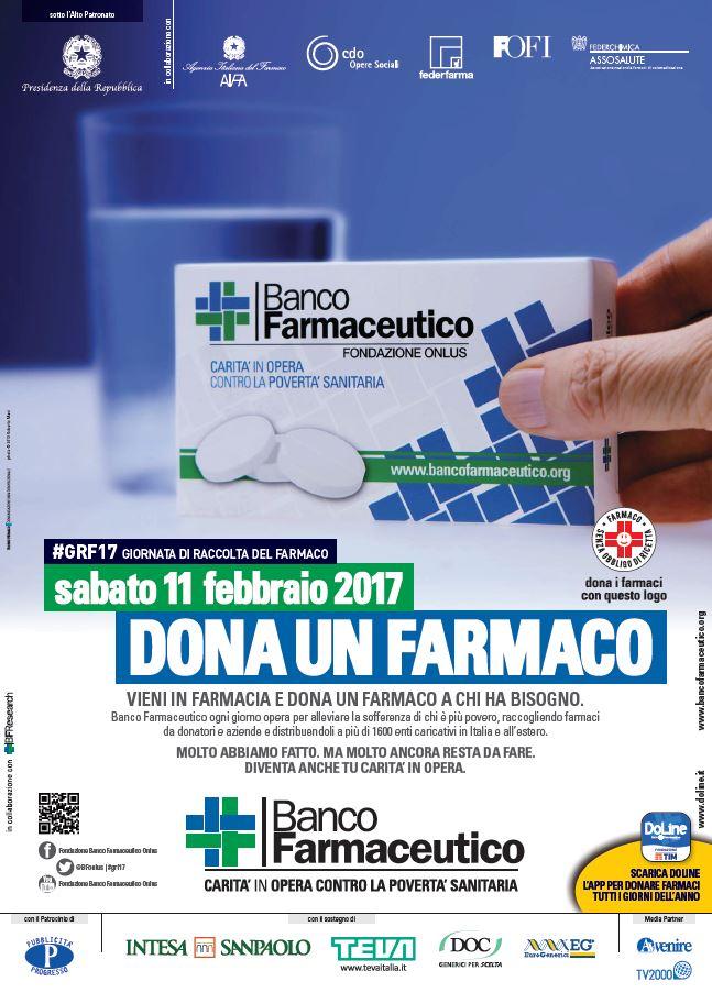 """Sabato 11 febbraio anche a Mesagne la """"Giornata di raccolta del farmaco"""""""