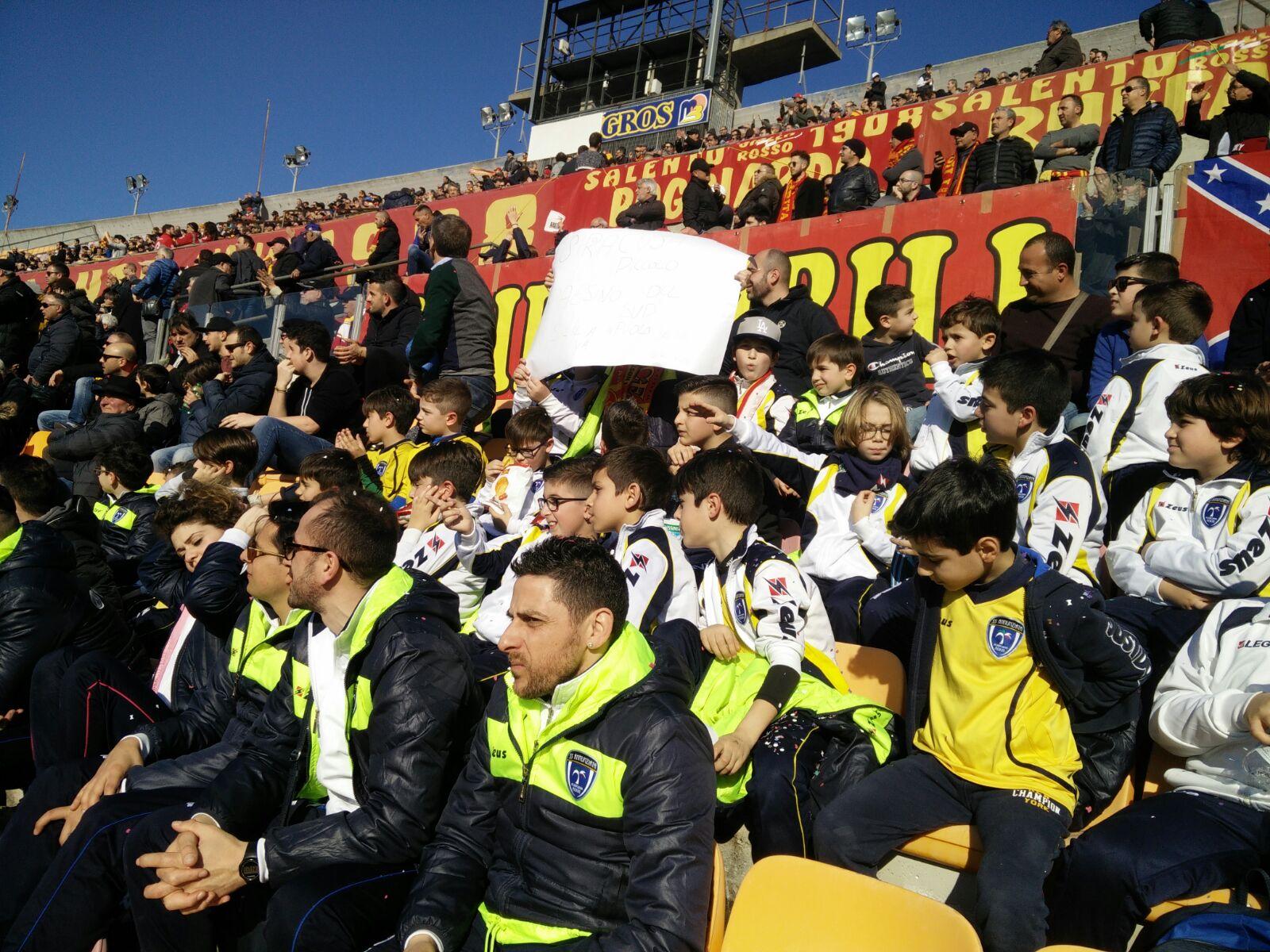 I ragazzi della SS. Annunziata incontrano la squadra dell'US Lecce
