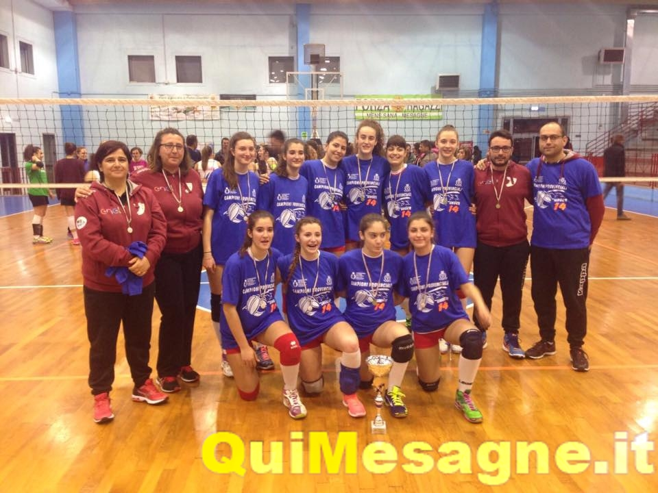 Volley Under 14, Mesagne Volley si conferma Campione Provinciale