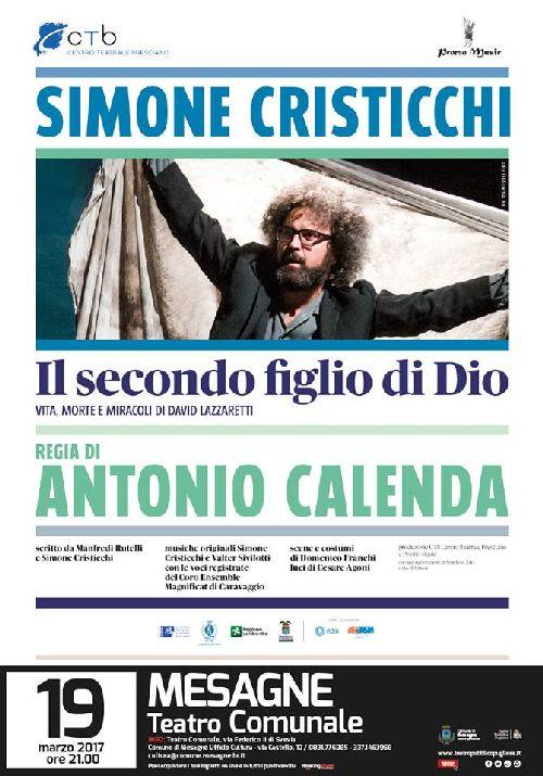 """Simone Cristicchi domenica al Comunale """"Il secondo figlio di Dio – Vita, morte e miracoli di David Lazzaretti"""""""