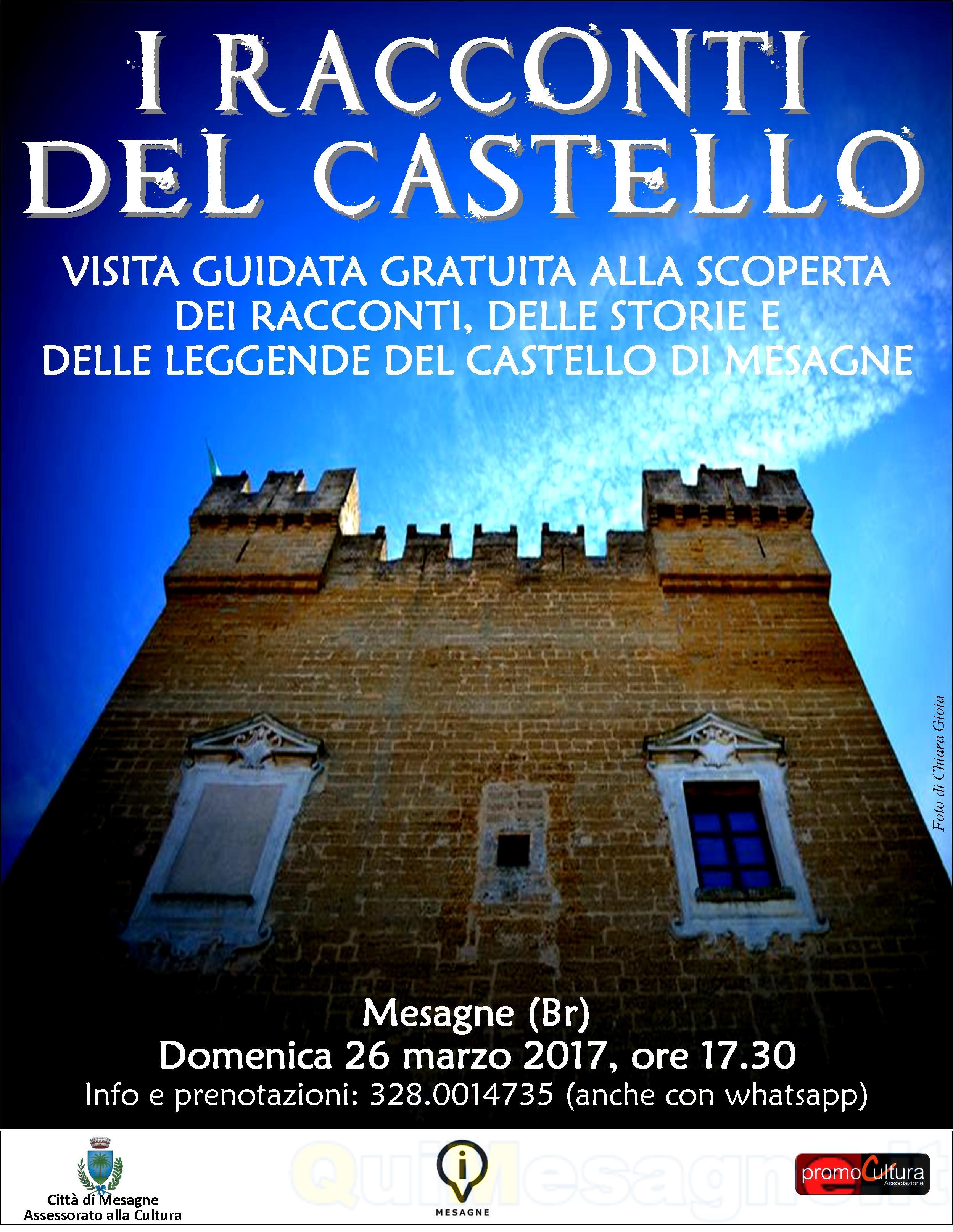 """""""I racconti del Castello"""", domenica 26 visita guidata all'interno del Castello"""