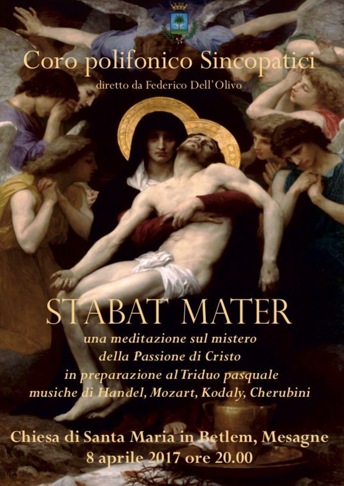 """Stabat Mater concerto coro """"Sincopatici"""", Sabato 8 aprile nella chiesa di Santa Maria"""