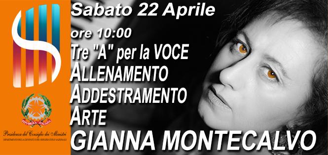 Sabato 22 Aprile a Lab Creation il Seminario con la docente Gianna Montecalvo