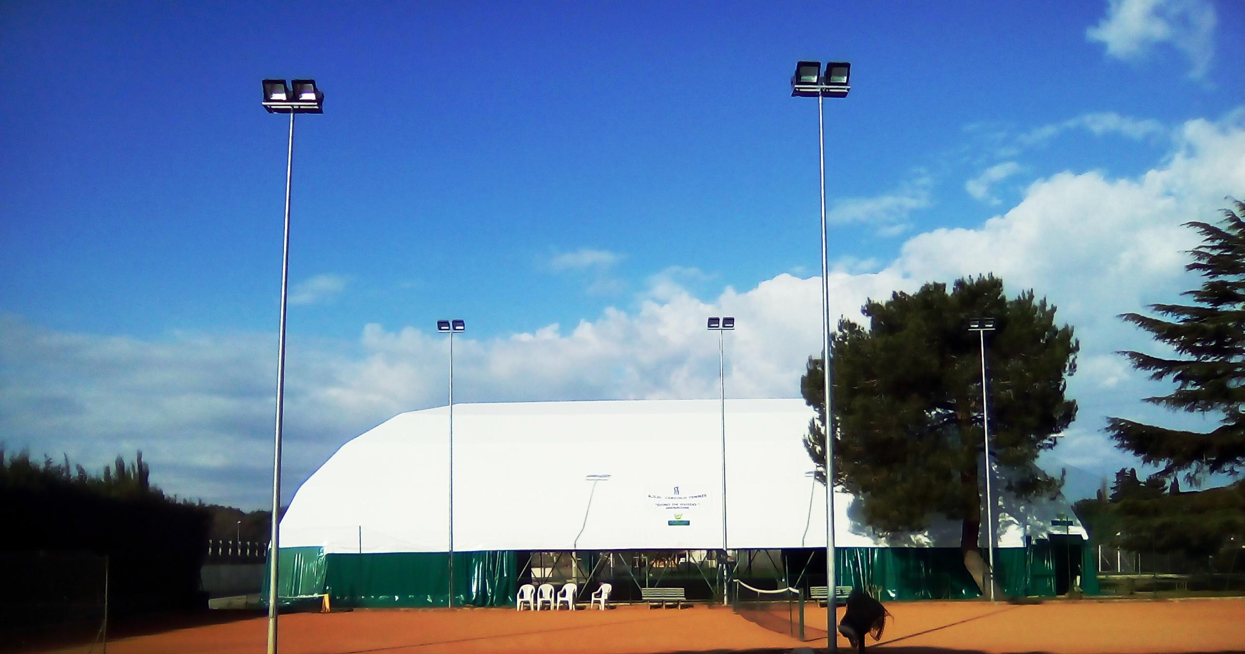 """Sabato 8 aprile si inaugura il campo coperto al Circolo Tennis """"Dino De Guido"""" di Mesagne"""