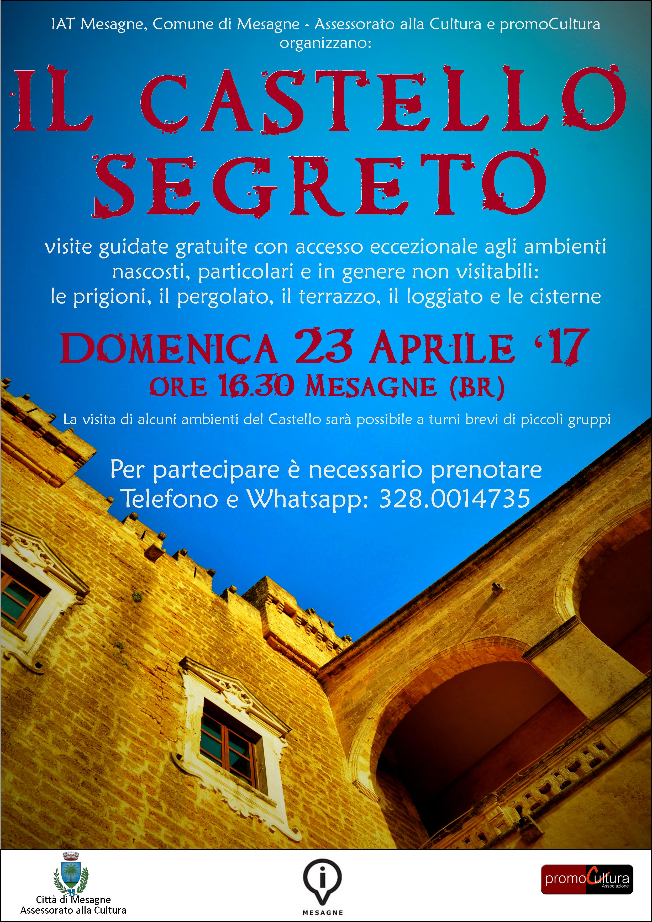 """Domenica 23 aprile alle 16.30 nuovo appuntamento con """"Il Castello Segreto"""""""