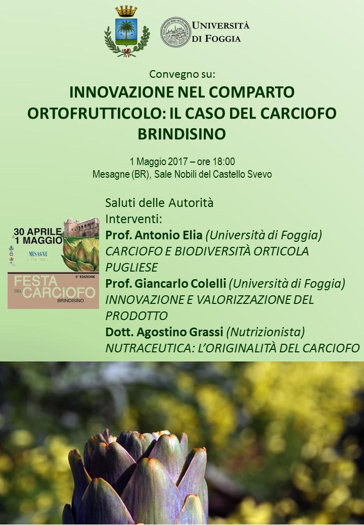 Festa del Carciofo, il 1° Maggio convegno sulla innovazione ortofrutticola