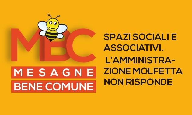 Mesagne Bene Comune: Spazi sociali e associativi, l'amministrazione Molfetta non risponde