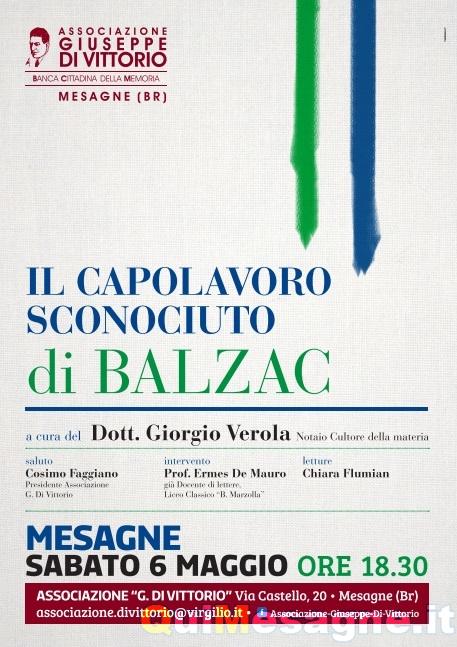 Sabato 6 Maggio il Capolavoro Sconosciuto di Balzac