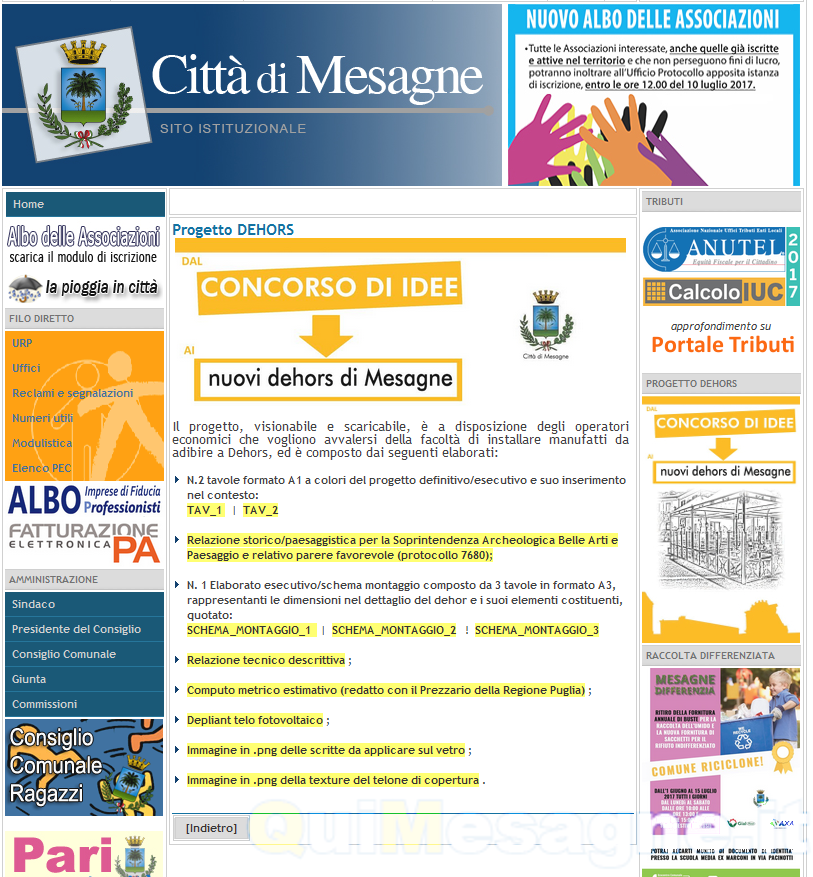 """Sul sito del Comune le istruzioni per i """"Dehors"""""""