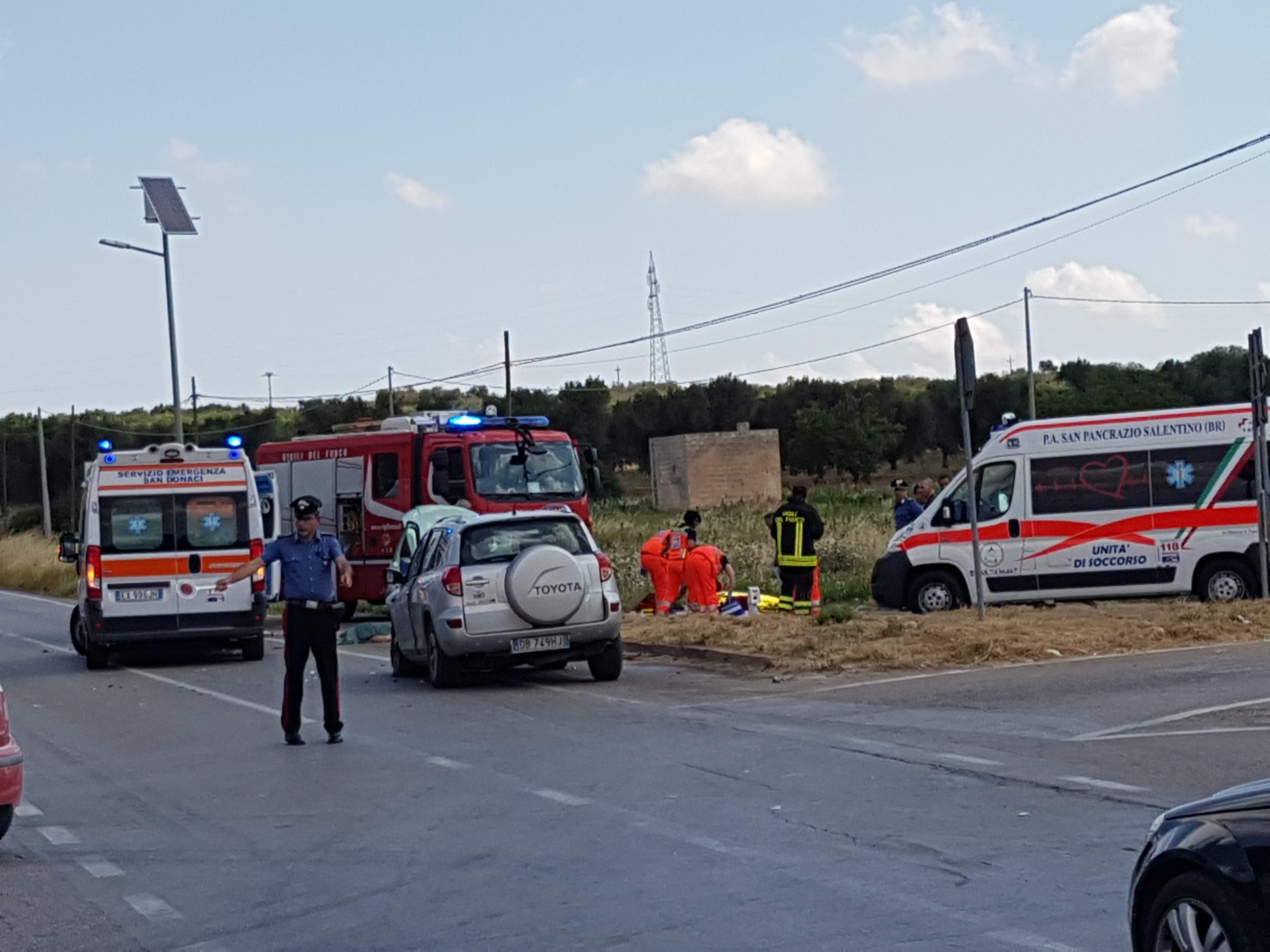 Tragedia sulla provinciale Torre Mesagne, due morti – I NOMI